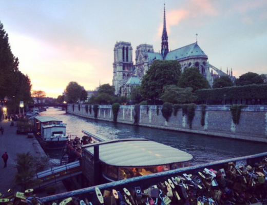 Notre Dame, Paris in evening