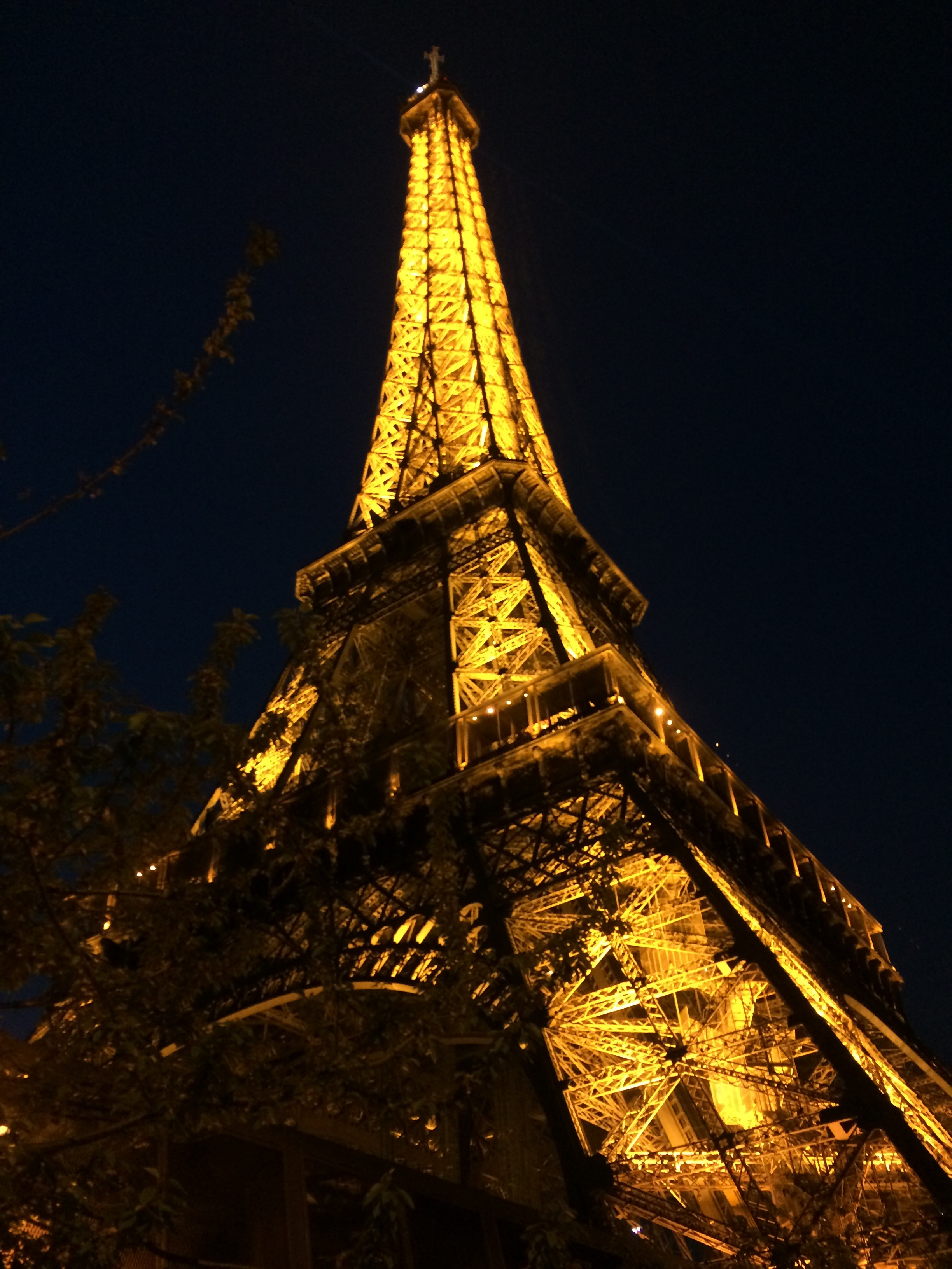 Tour Eiffel at night in Paris, France