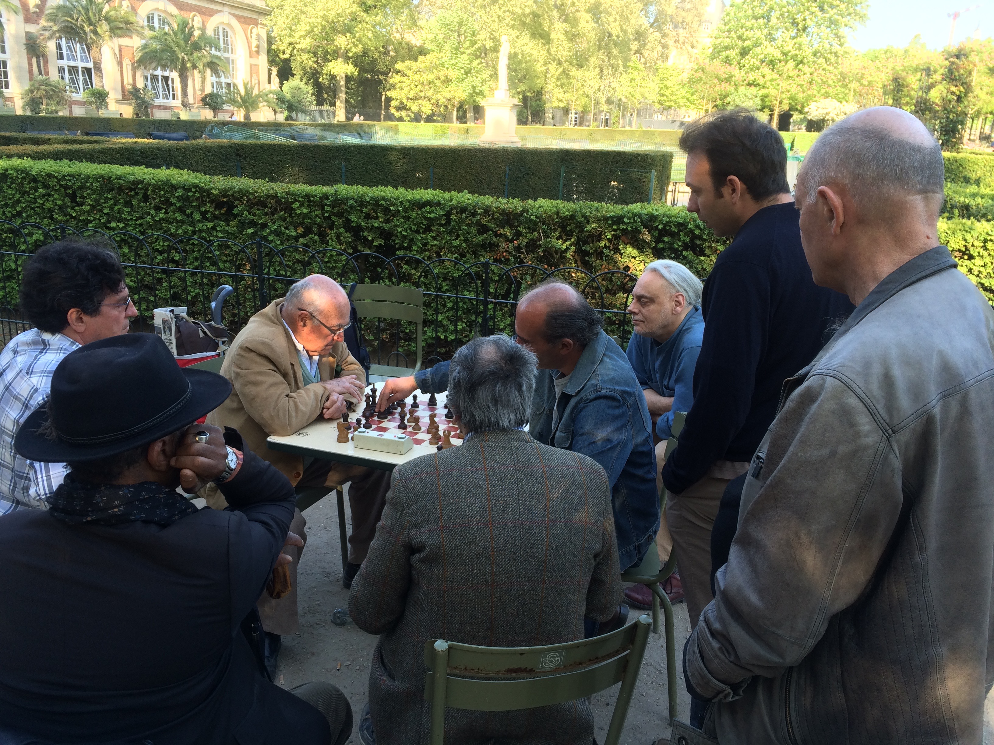 Parisian chess game in the Jardin du Luxembourg