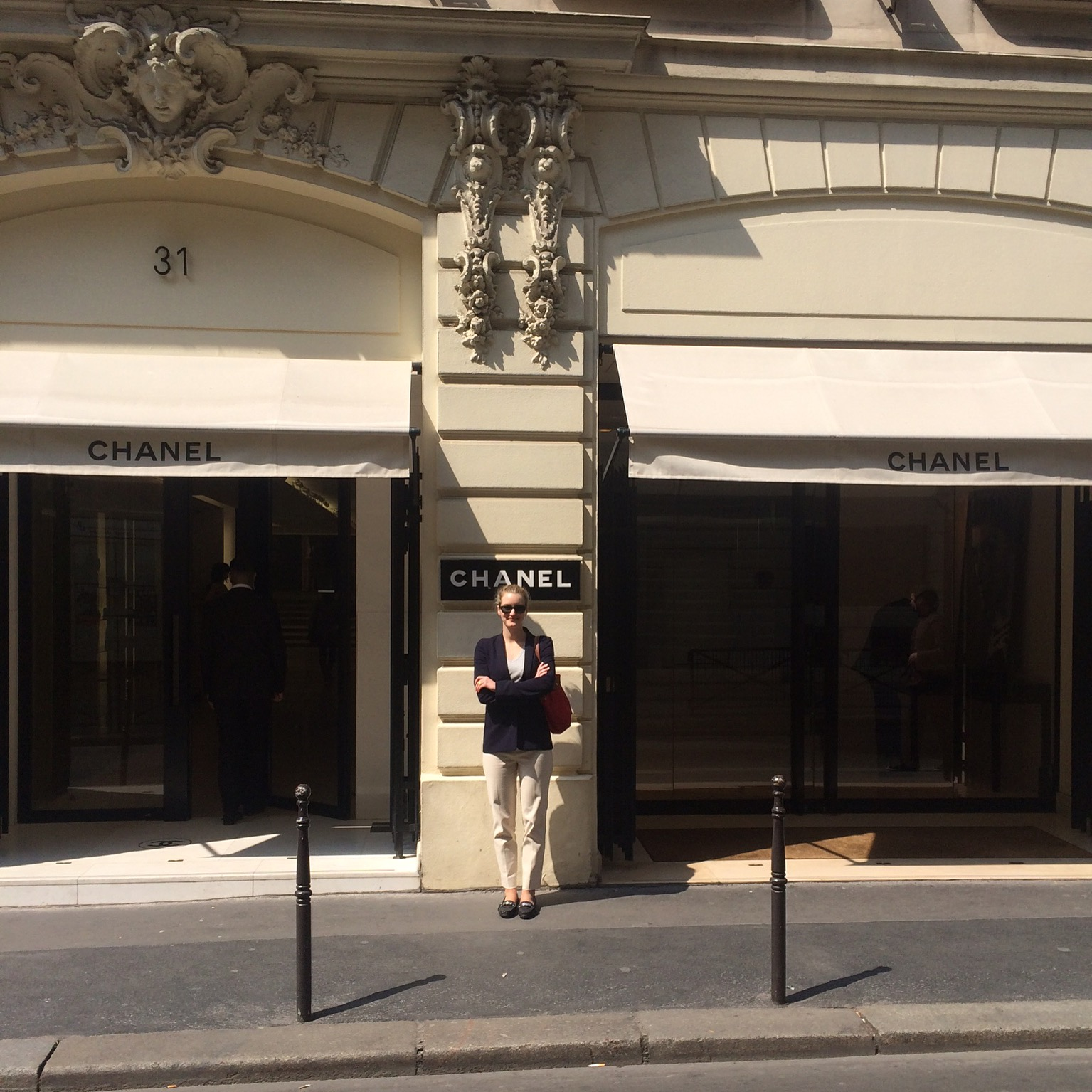 First visit to the Chanel store at 31, rue Cambon in Paris, France
