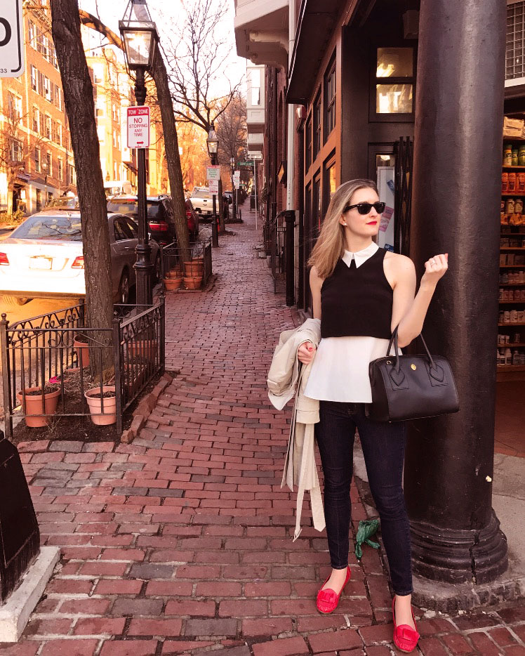 Parisian spring style on Beacon Hill
