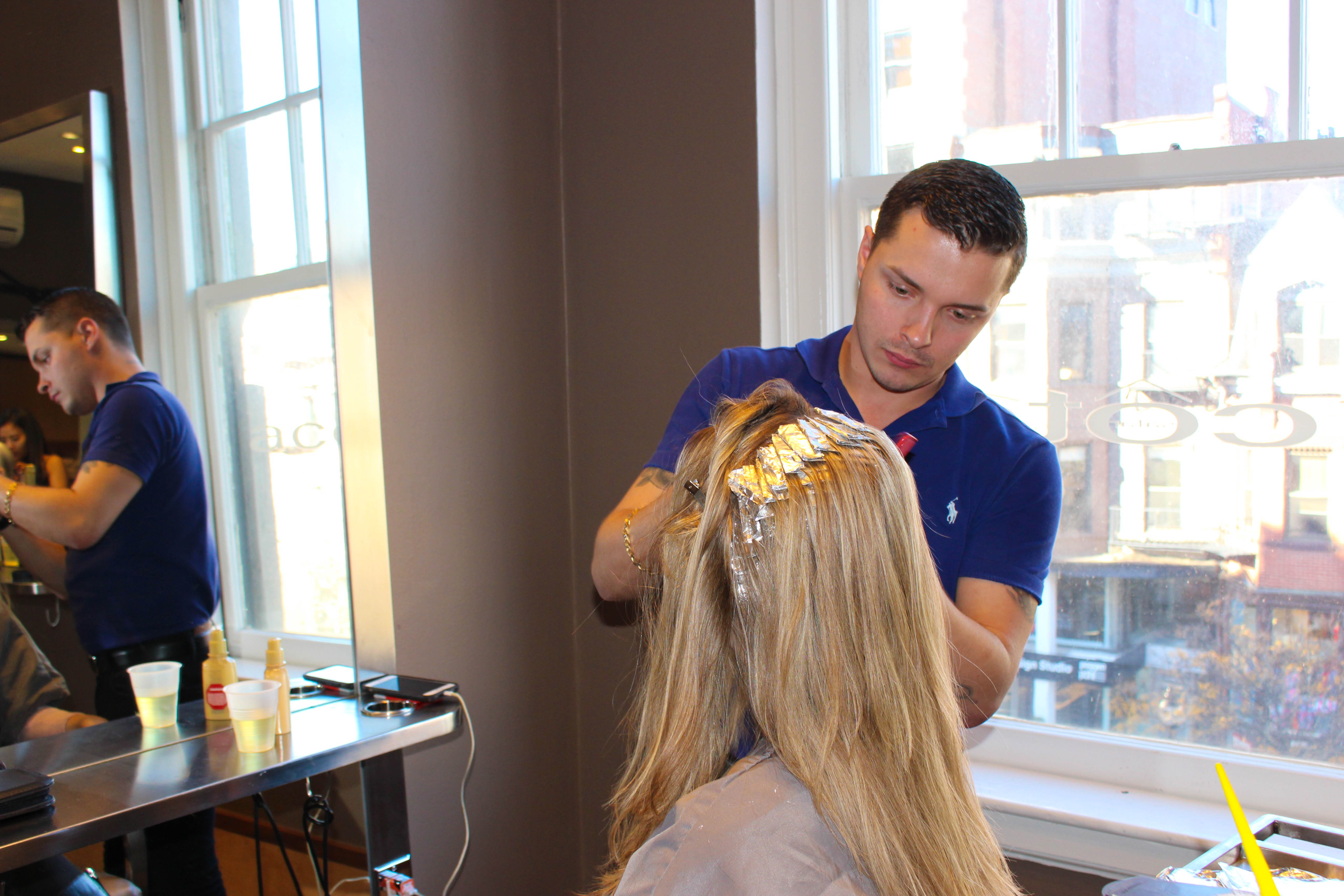 French chic with stylist Timothy Reidy Jr. at work at Salon Acote