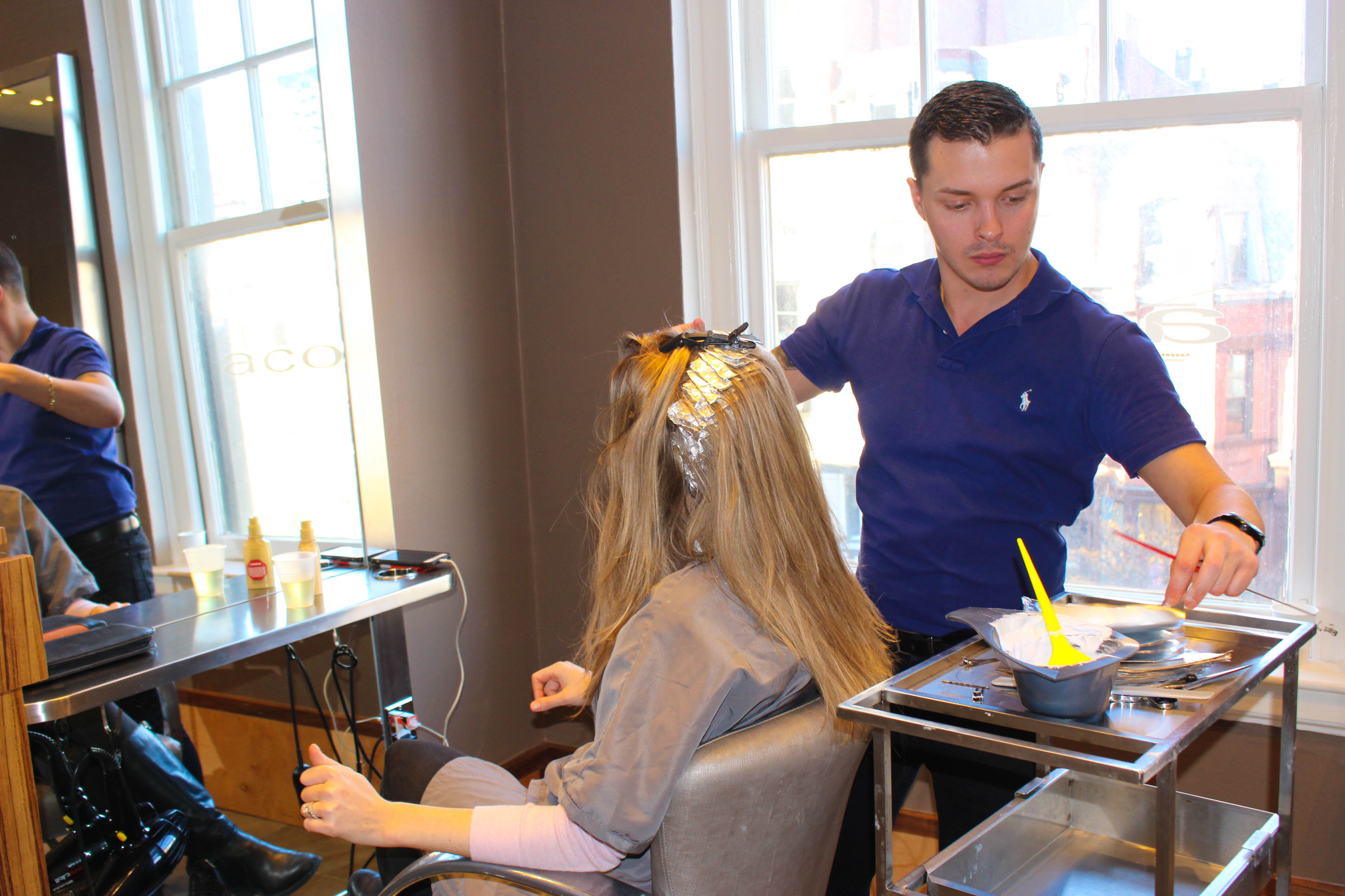 French chic hair foils at Salon Acote in Boston