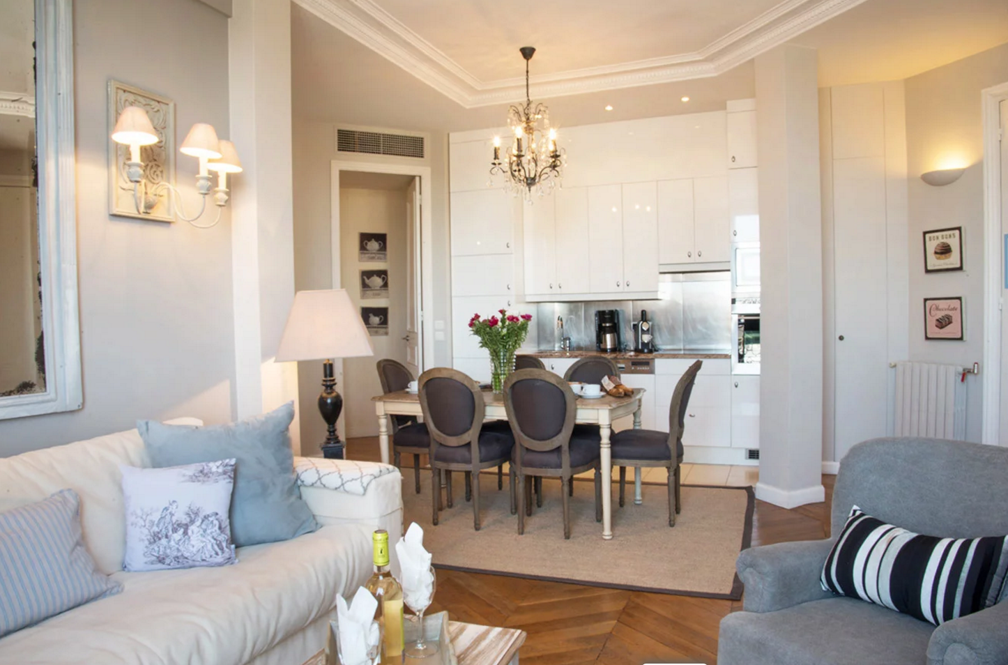 Paris Perfect living and dining area